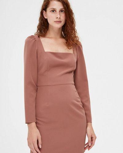 Розовое платье-футляр Lime