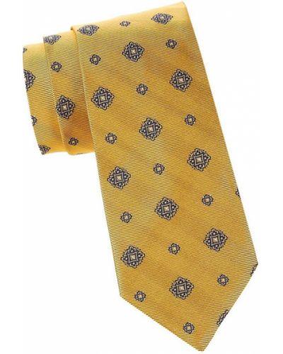 Шелковый желтый медальон с нашивками Brooks Brothers