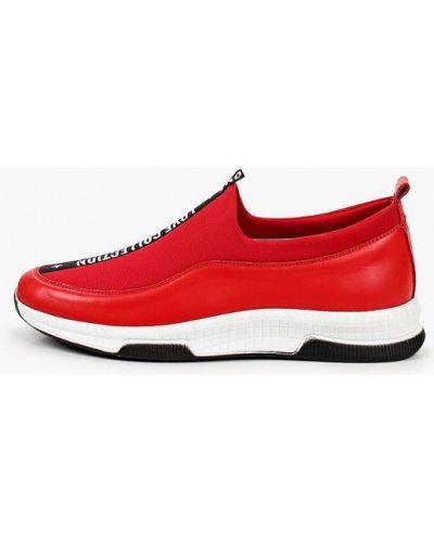 Красные кожаные слипоны Ascalini