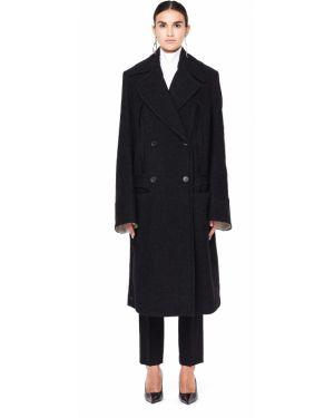 Пальто классическое серое шерстяное Ann Demeulemeester