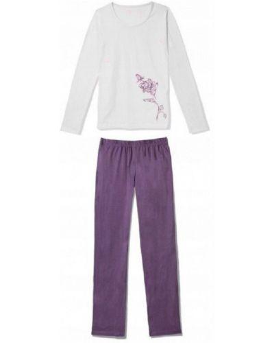 Piżama bawełniana z długimi rękawami z printem Atlantic