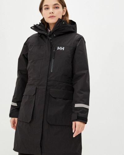 Теплая черная утепленная куртка Helly Hansen