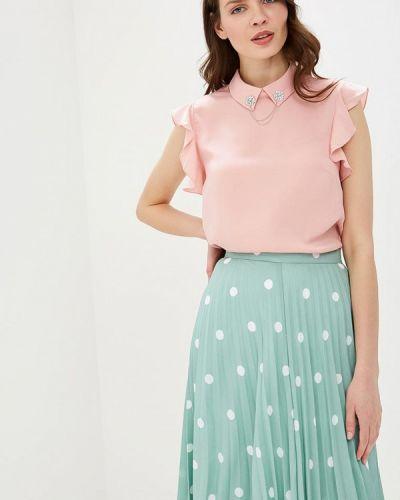 Блузка без рукавов розовый весенний Zarina
