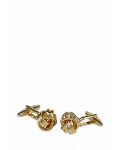 Запонки из золота золотой Lindenmann