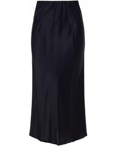 Облегченная сатиновая черная юбка миди Olivia Von Halle