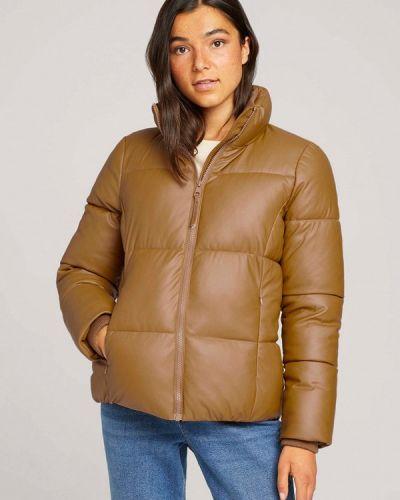 Коричневая куртка утепленная Tom Tailor Denim