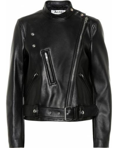 Кожаная куртка черная Acne Studios