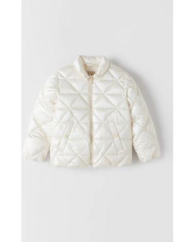 Молочная куртка с воротником с карманами Zara