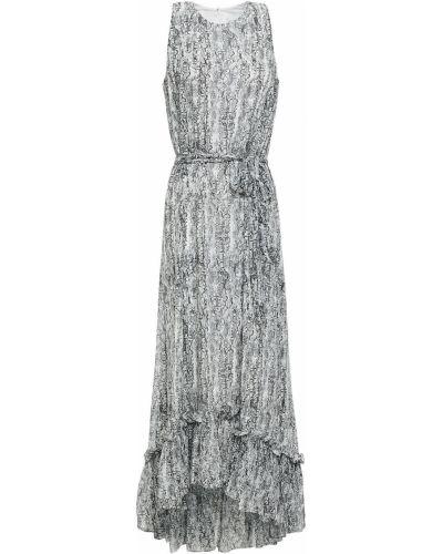 Текстильное платье миди с принтом на крючках Mikael Aghal