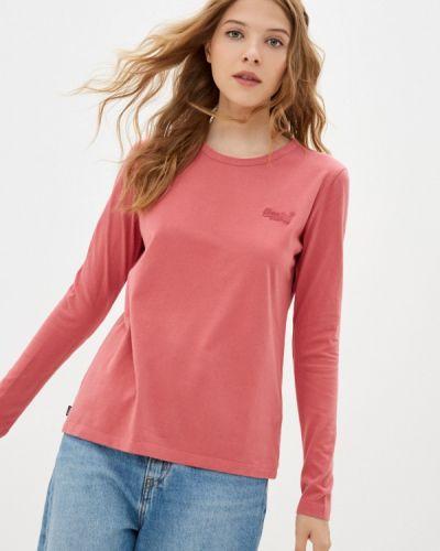 Розовая футболка осенняя Superdry