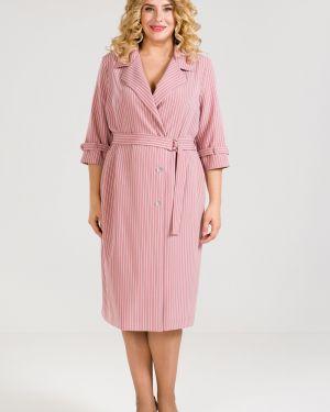 Платье с поясом на пуговицах двубортное Luxury