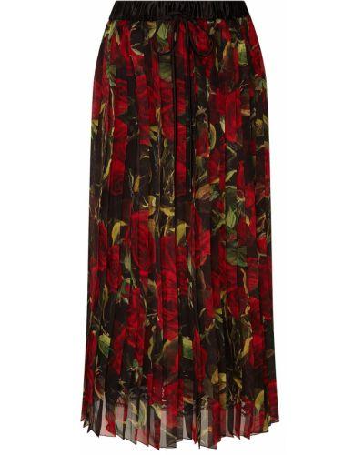 Плиссированная юбка макси миди Dolce&gabbana