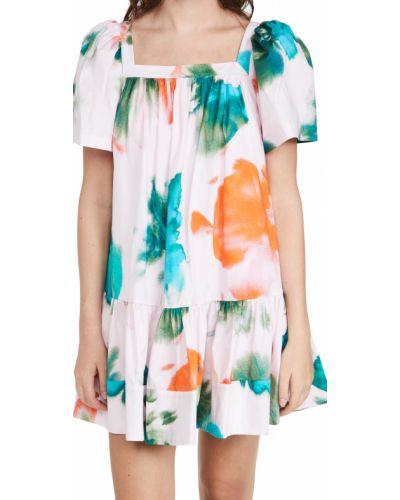 Хлопковое платье с декольте Tanya Taylor