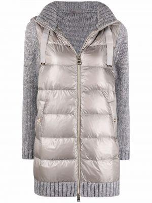 Серое пальто из альпаки Herno