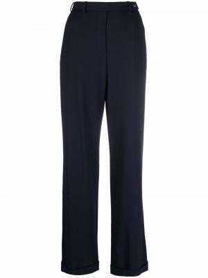 Синие брюки из спандекса Giorgio Armani