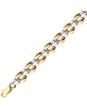 Золотой браслет золотой серебряный Sokolov