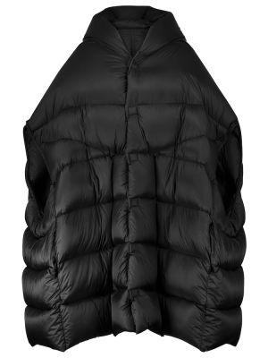 Черное теплое пальто Rick Owens