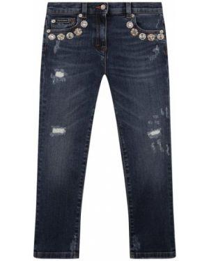 Хлопковые синие джинсы Dolce & Gabbana