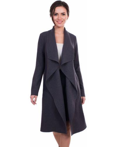 Пальто с поясом прямое с воротником шерстяное J-splash