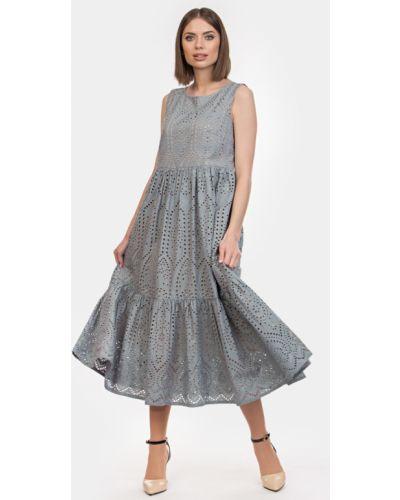 Хлопковое платье с подкладкой с вышивкой Filigrana