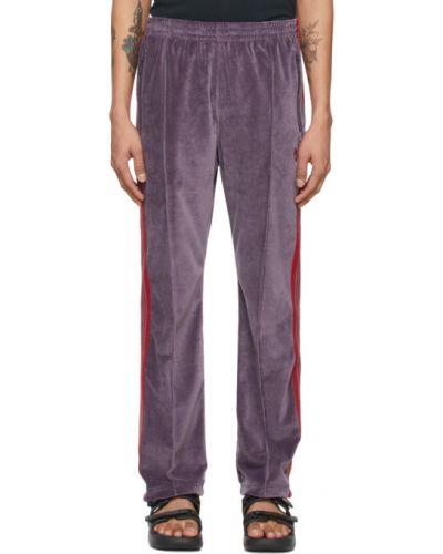 Хлопковые брюки в полоску с карманами Needles