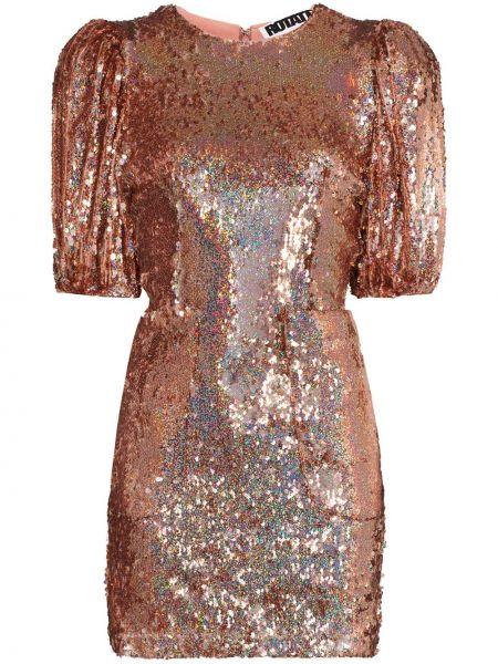 Вечернее платье розовое мини Rotate