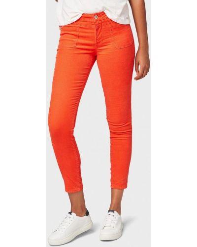 Оранжевые брюки повседневные Tom Tailor Denim