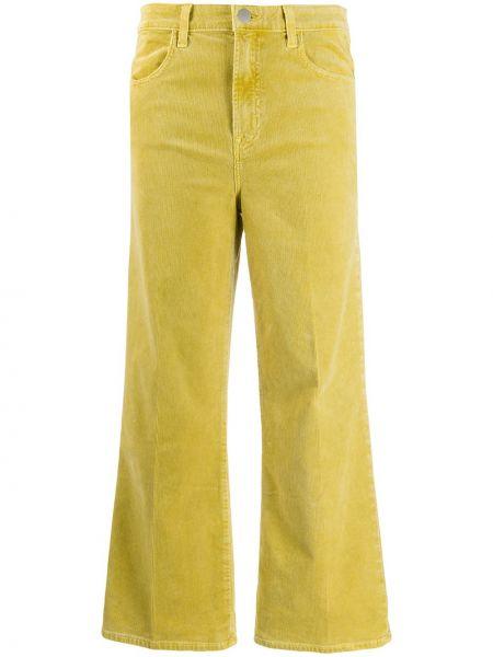 Свободные брюки вельветовые зеленый J Brand