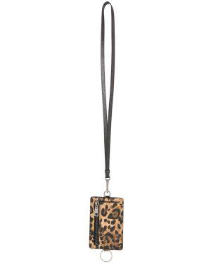 Etui na klucze skórzany brązowy Dolce And Gabbana