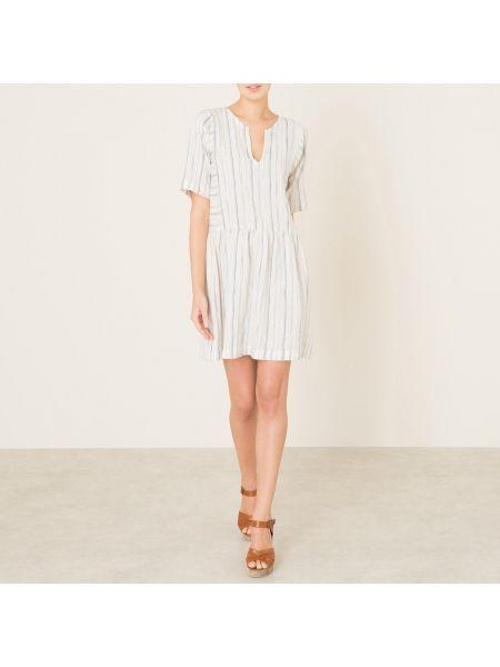 Темно-синее прямое платье мини с люрексом с вырезом Harris Wilson