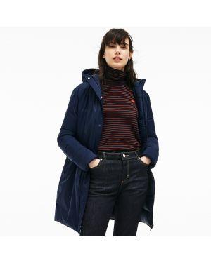 Куртка с капюшоном утепленная с карманами Lacoste