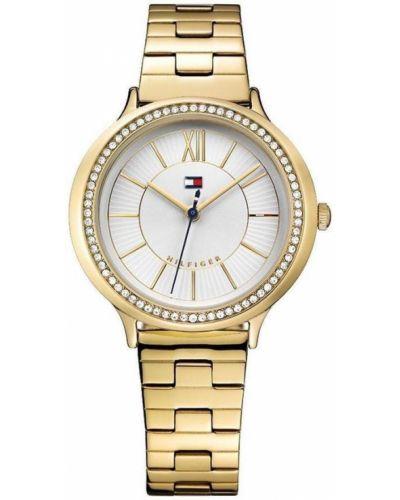 Złoty zegarek kwarcowy kwarc Tommy Hilfiger
