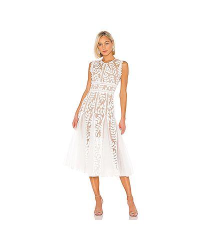 Платье миди с цветочным принтом с кружевными рукавами Bronx And Banco