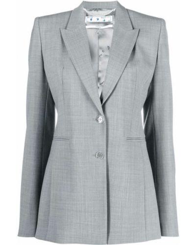 Шерстяной пиджак - белый Off-white