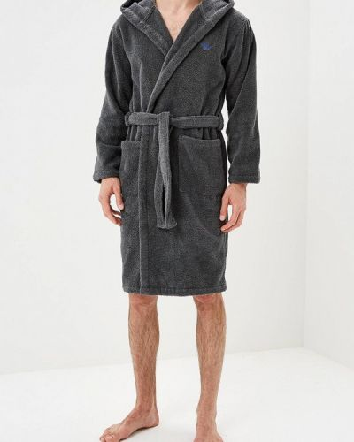 Серый халат Emporio Armani