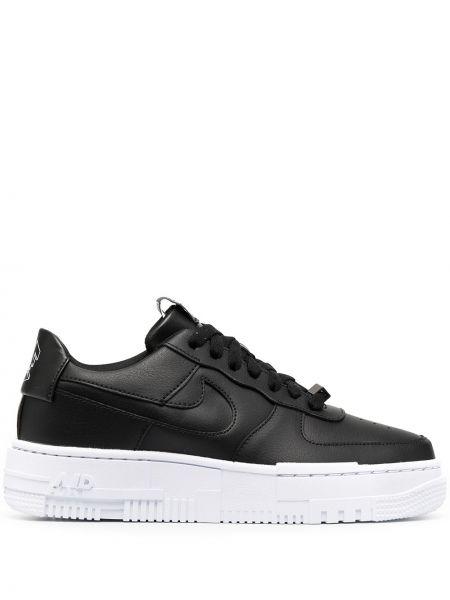 Czarny włókienniczy top okrągły nos zasznurować Nike