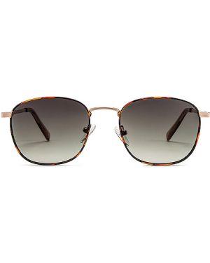 Brązowe złote okulary Le Specs