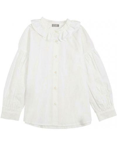 Biała koszula z falbanami Il Gufo