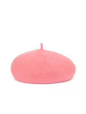 Różowy beret wełniany Art Of Polo