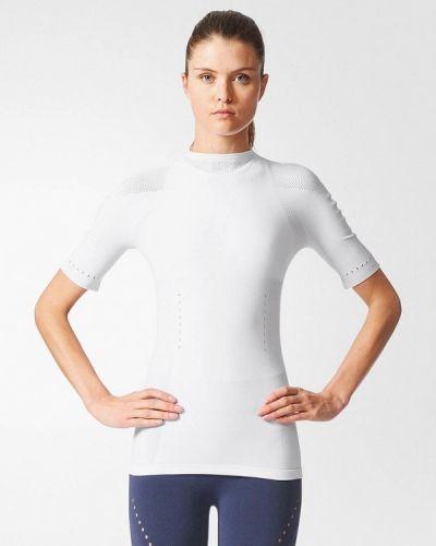 Белое поло спортивное Adidas