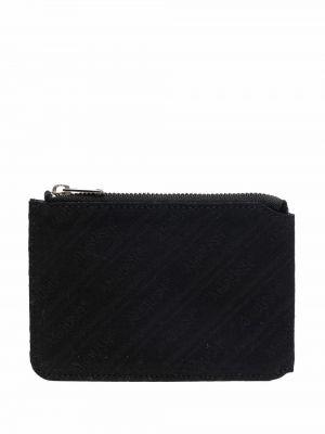 Czarny portfel z haftem Ambush