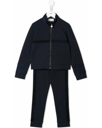 Спортивный костюм синий эластичный Moncler Kids