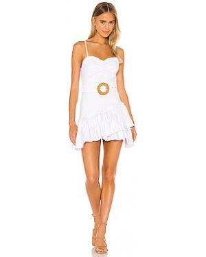 Платье с поясом плиссированное из поплина Majorelle