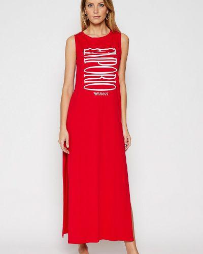Пляжное красное платье Ea7