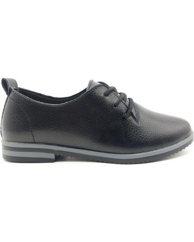 Кожаные туфли - черные Kadisailun