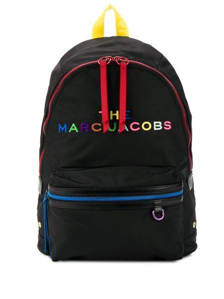 Plecak z haftem czarny Marc Jacobs