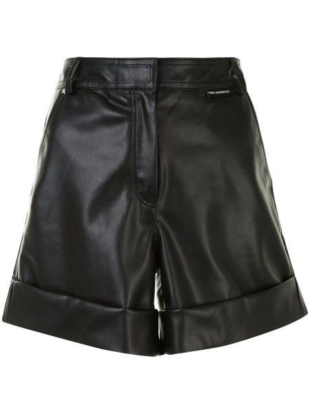 Кожаные шорты - черные Karl Lagerfeld