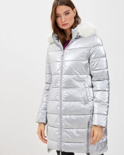 Теплая серебряная зимняя куртка B.style