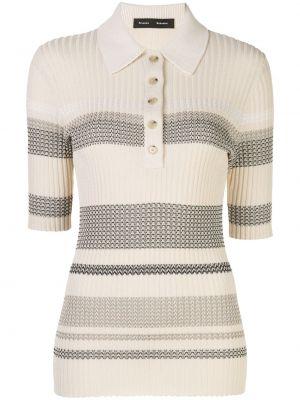 Рубашка с коротким рукавом - белая Proenza Schouler