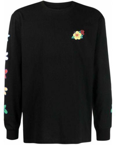 Czarna bluza długa bawełniana z długimi rękawami Clot